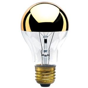 60W A19 E26 Half Gold and Clear Bulb