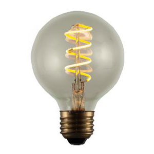 4W ST18 E26 LED 3-Inch Vintage Curved Filament Bulb