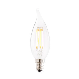 4.5W CA10 E12 Clear Filaments 3000K LED Bulb
