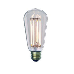 7W ST18 E26 LED Clear Filament Bulb