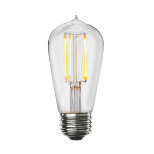 7W ST18 E26 Clear Filaments LED Bulb