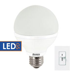 8W G25 E26 LED White Bulb