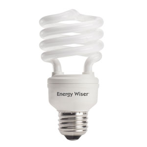 18W T2 Coil E26 CFL Soft Daylight Bulb