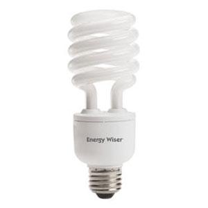 23W T3 Coil E26 CFL White Bulb