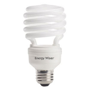 23W T2 Coil E26 CFL Warm White Bulb