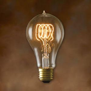 25W A21 E26 Nostalgic Edison Victorian Loop Filament Bulb