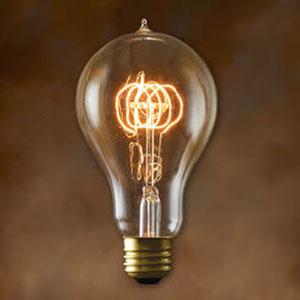 25W A23 E26 Nostalgic Edison Victorian Loop Filament Bulb