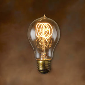 25W A19 E26 Nostalgic Edison Quad Loop Filament Warm White Bulb