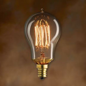 25W A15 E12 Nostalgic Edison Thread Filament Warm White Bulb
