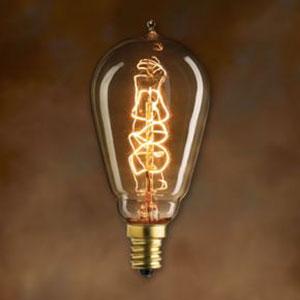 25W ST15 E12 Nostalgic Edison Spiral Filament Warm White Bulb
