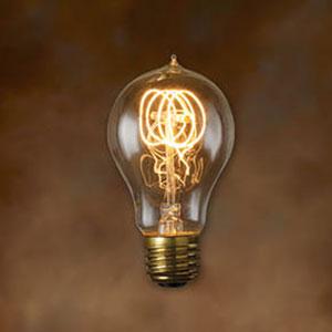 40W A19 E26 Nostalgic Edison Quad Loop Filament Warm White Bulb