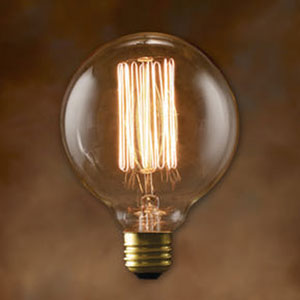 40W G30 E26 Nostalgic Edison Thread Filament Warm White Bulb