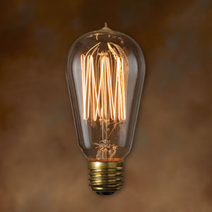 40W ST18 E26 Nostalgic Squirrel Cage Filament Antique Bulb