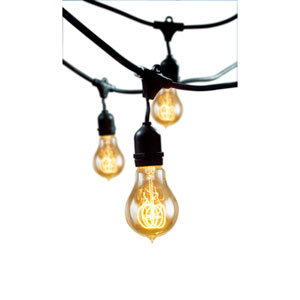 48-Foot Outdoor 15-Light String Light with Vintage Edison Bulbs