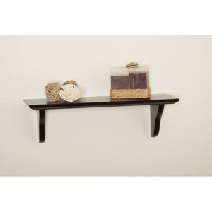 Espresso Shelf Kit, 5 x 16 x 5/8-Inches