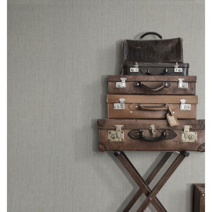 Ronald Redding Gray Weekender Weave Non Pasted Wallpaper