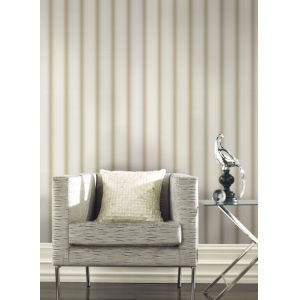 Urban Oasis Beige and Cream Ebb and Flow Wallpaper