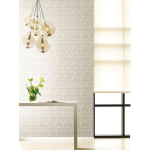 Urban Oasis White and Cream Nexus Wallpaper