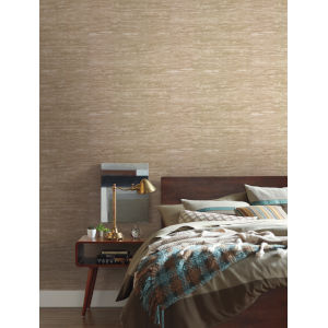Urban Oasis Warm Neutral and Beige Painterly Wallpaper
