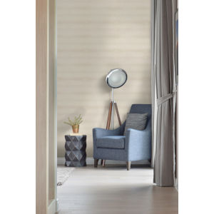 Urban Oasis Taupe and Beige Ocean Swell Wallpaper