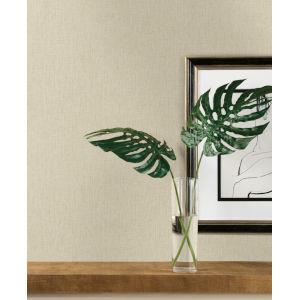Ronald Redding Tea Garden Light Gray Threaded Silk Wallpaper