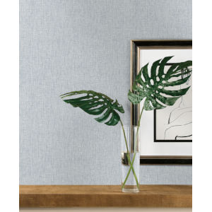Ronald Redding Tea Garden Blue Threaded Silk Wallpaper