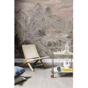Mural Resource Library Beige Misty Mountain Wallpaper