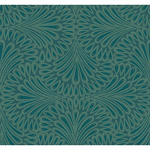 Antonina Vella Deco Blue Cabaret Wallpaper