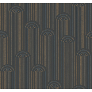 Antonina Vella Deco Black Speakeasy Wallpaper