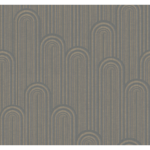 Antonina Vella Deco Light Gray Speakeasy Wallpaper