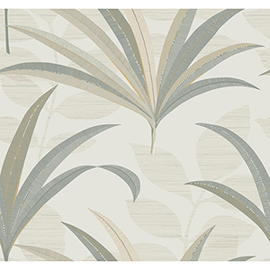 Antonina Vella Deco Off White El Morocco Palm Wallpaper