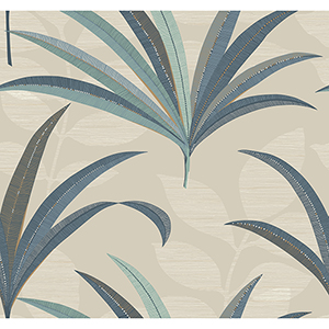 Antonina Vella Deco Beige El Morocco Palm Wallpaper