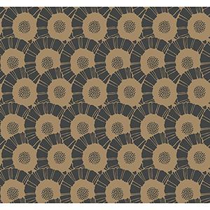 Antonina Vella Deco Black Coco Bloom Wallpaper
