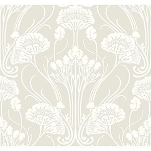 Antonina Vella Deco Beige Nouveau Damask Wallpaper