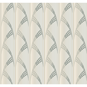 Antonina Vella Deco Off White Metropolis Wallpaper