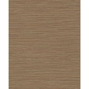 Color Digest Brown Ramie Weave Wallpaper