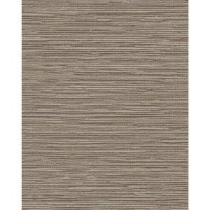 Color Digest Dark Gray Ramie Weave Wallpaper