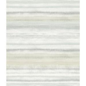Impressionist Tan Fleeting Horizon Stripe Wallpaper