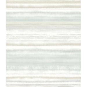 Impressionist Green Fleeting Horizon Stripe Wallpaper