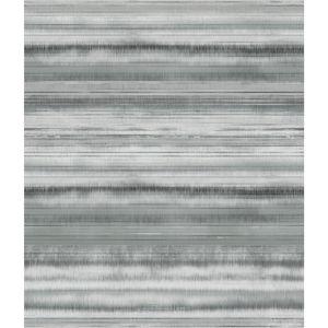 Impressionist Gray Fleeting Horizon Stripe Wallpaper