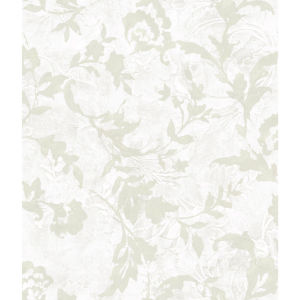 Impressionist White Vine Silhouette Wallpaper