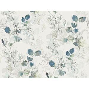 Impressionist Blue Arbor Vine Wallpaper