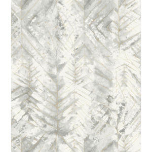Impressionist Blue and Gray Textural Impremere Wallpaper