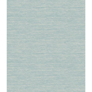 Impressionist Blue and Green Challis Woven Wallpaper