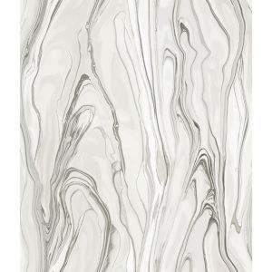 Impressionist Tan Liquid Marble Wallpaper