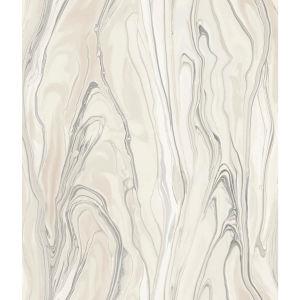 Impressionist Pink Liquid Marble Wallpaper