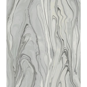 Impressionist Gray Liquid Marble Wallpaper