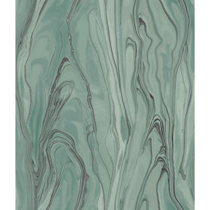 Impressionist Green Liquid Marble Wallpaper