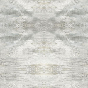 Impressionist Gray Serene Jewel Wallpaper