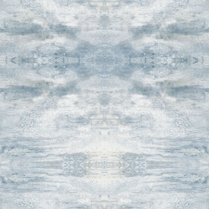 Impressionist Blue Serene Jewel Wallpaper